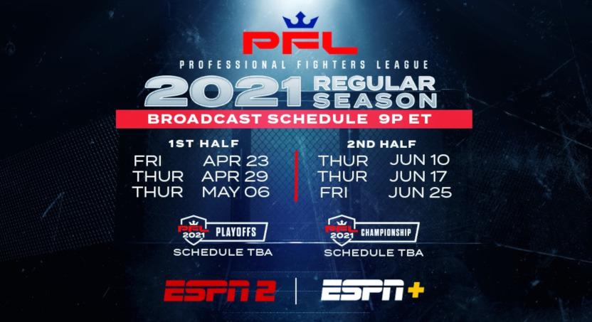 The PFL 2021 schedule.