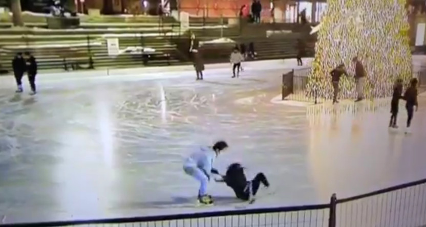 CTV showed this Calgary ice skating incident ended with a fall.