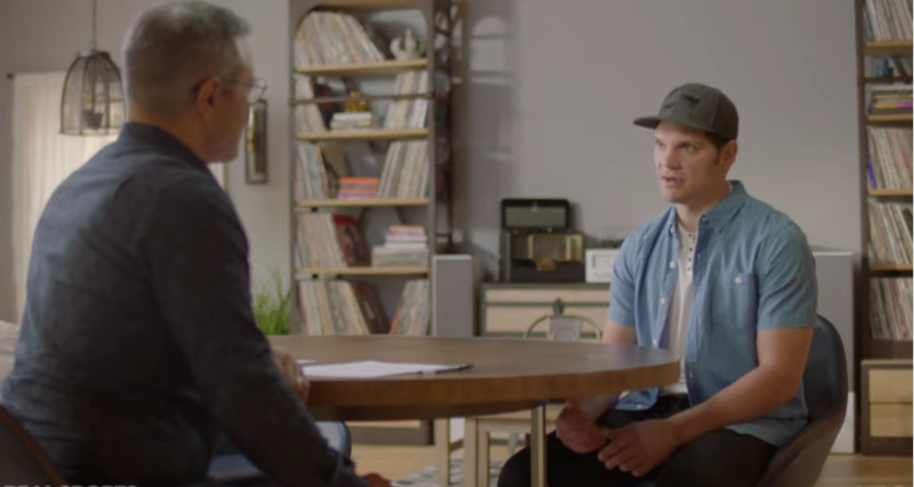 HBO's David Scott interviewing Daniel Carcilllo.