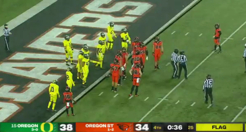 The prompt for a Zeno discussion on Oregon-Oregon State.