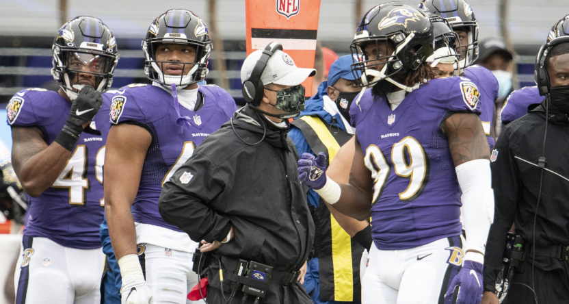 The Ravens against the Steelers on Nov. 1.