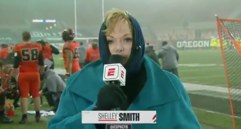 Shelley Smith on the Oregon-Oregon State broadcast.