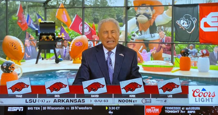 The ESPN College GameDay panel's Arkansas picks.