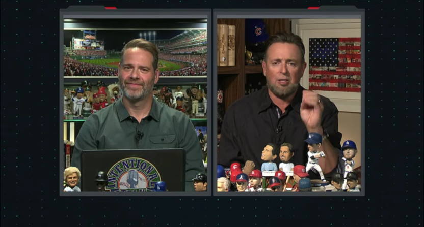 Chris Rose and Kevin Millar on Intentional Talk on Dec. 11, 2020.