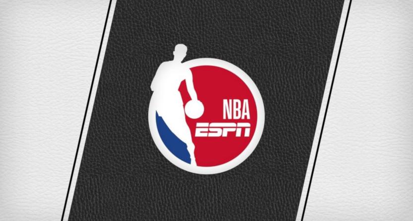 The NBA on ESPN logo.