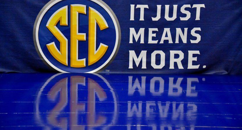 A SEC logo in 2018.