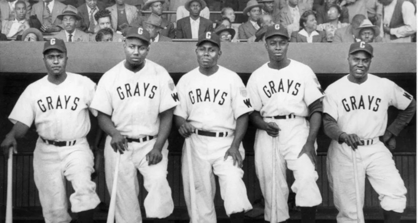 The Homestead Grays in the Negro Leagues.