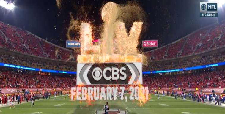 A CBS Super Bowl LV graphic.