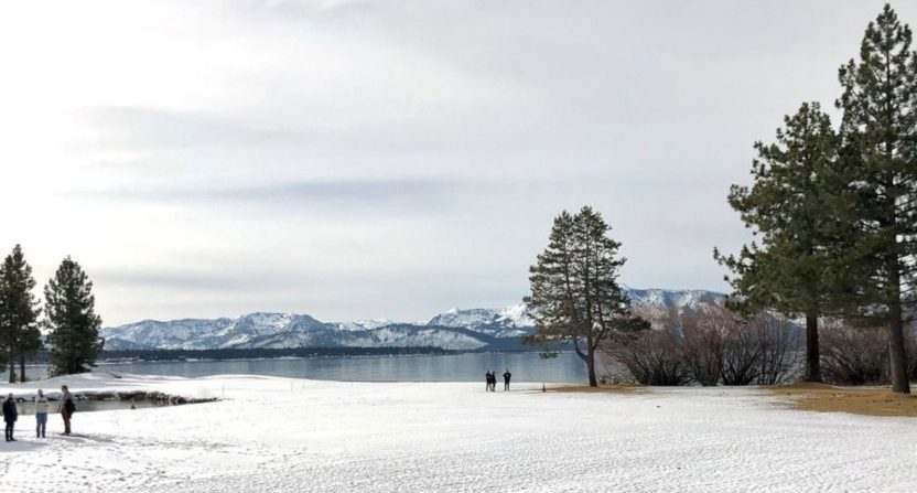 A proposed outdoor location for NHL games at Lake Tahoe. (Via Elliotte Friedman/Sportsnet.)