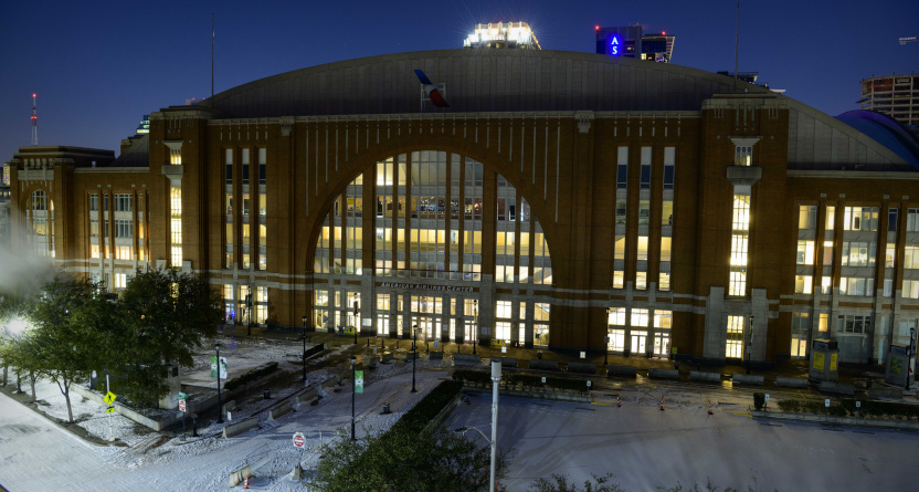The Stars' and Mavericks' arena, American Airlines Center.