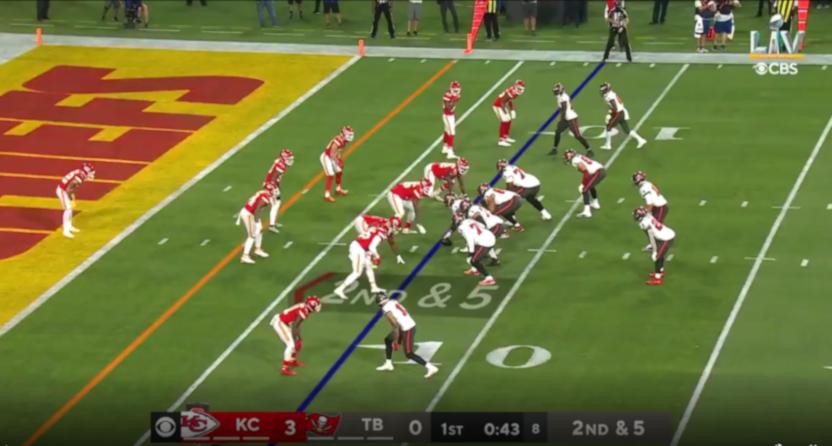 CBS' Super Bowl LV scorebug.