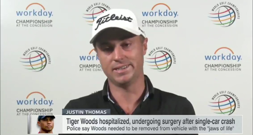 Justin Thomas on Tiger Woods.