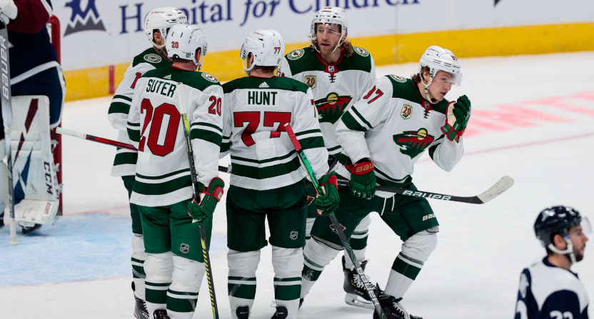 The NHL has postponed more games. Some involve the Minnesota Wild, seen Feb. 2 against the Colorado Avalanche on Feb. 2.