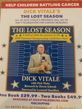 """Dick Vitale's """"The Lost Season"""" book."""