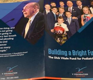 A Dick Vitale gala brochure.