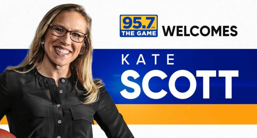 Kate Scott at 95.7 The Game.