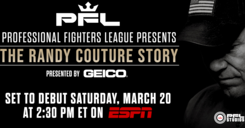 A PFL graphic on their docuseries on Randy Couture.