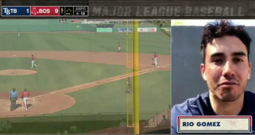 Rio Gomez doing an ESPN interview.