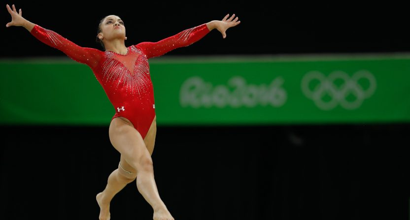 "The ""Golden"" docuseries features four U.S. women's national gymnastics team hopefuls, including Laurie Hernandez (seen competing for the U.S. in Rio)."