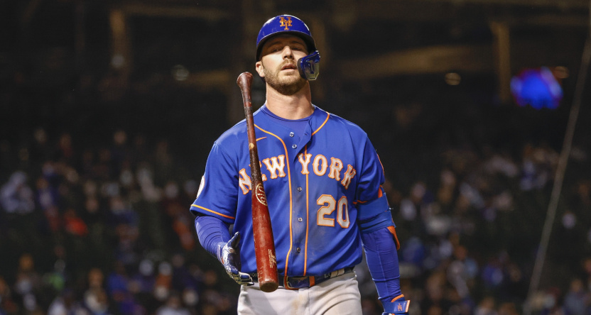 """Pete Alonso's post-game """"shit sandwich"""" comment was censored several different ways."""