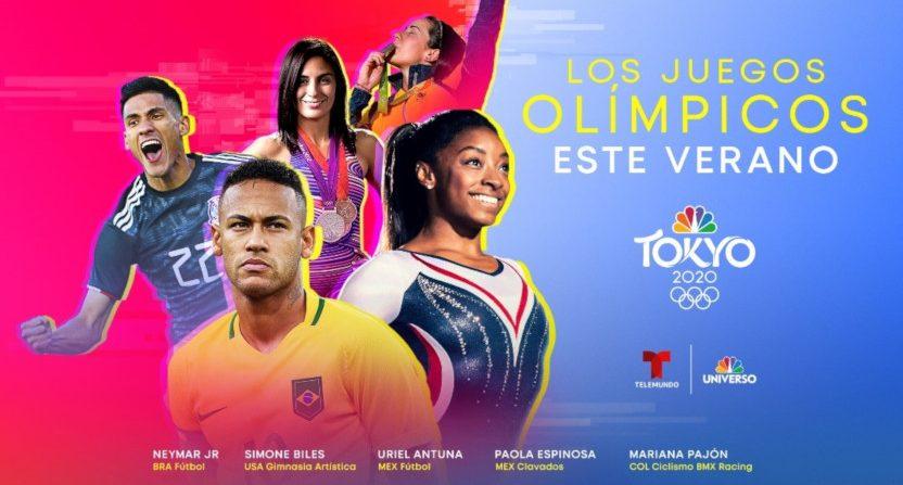 Telemundo's Olympics graphics.