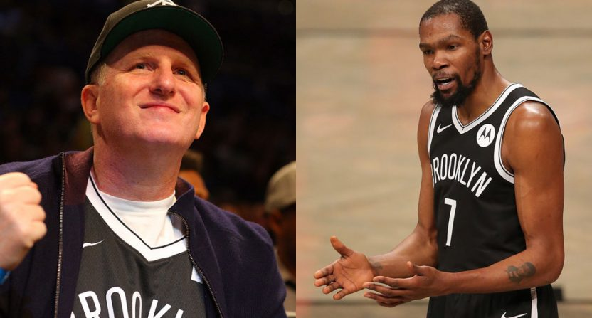 Michael Rapaport and Kevin Durant.