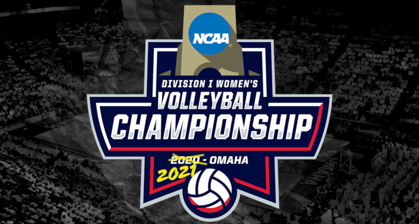 The 2021 NCAA women's volleyball championship logo.