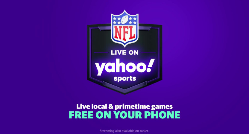 A Yahoo graphic on NFL streaming.