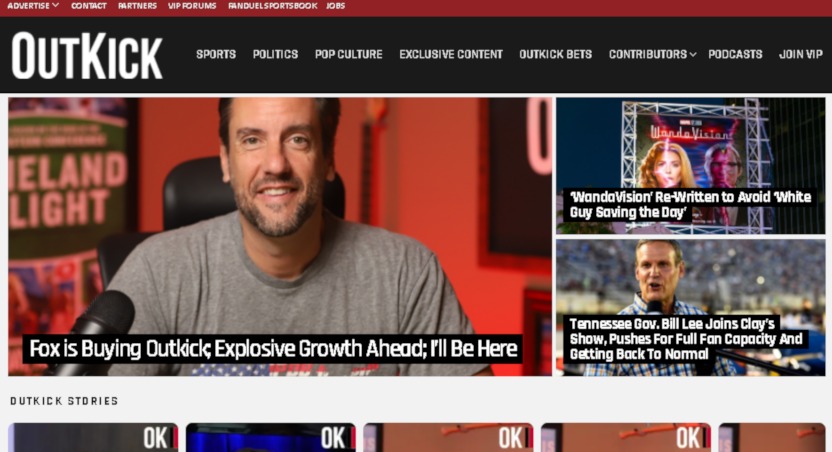 Fox has bought Clay Travis' OutKick