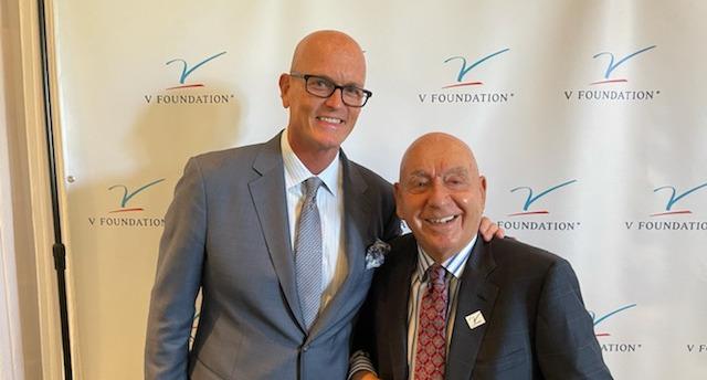 Dick Vitale (R) and Scott Van Pelt at the 16trh annual Dick Vitale Gala.