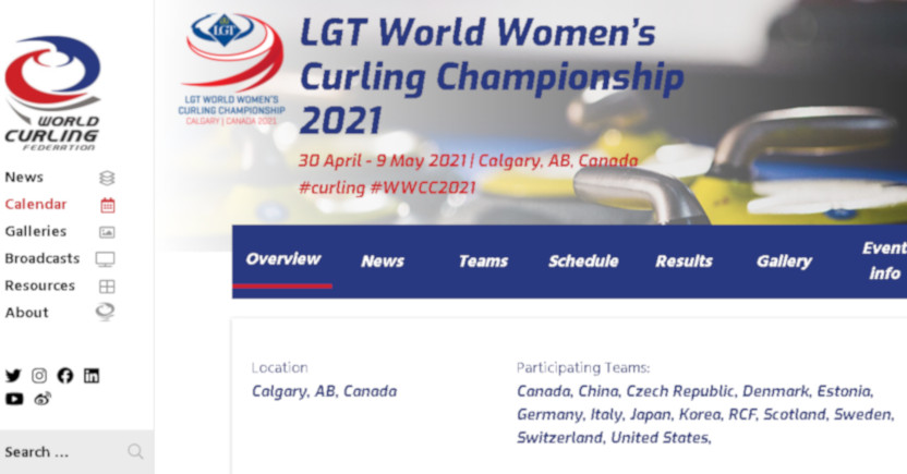 The women's curling world championship broadcasts are now on hold through at least Friday following positive COVID-19 tests