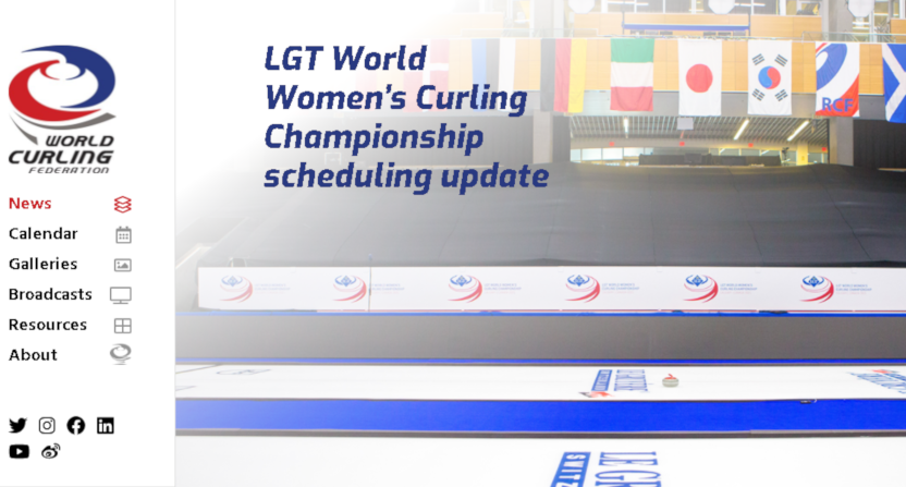 A women's curling championship graphic.
