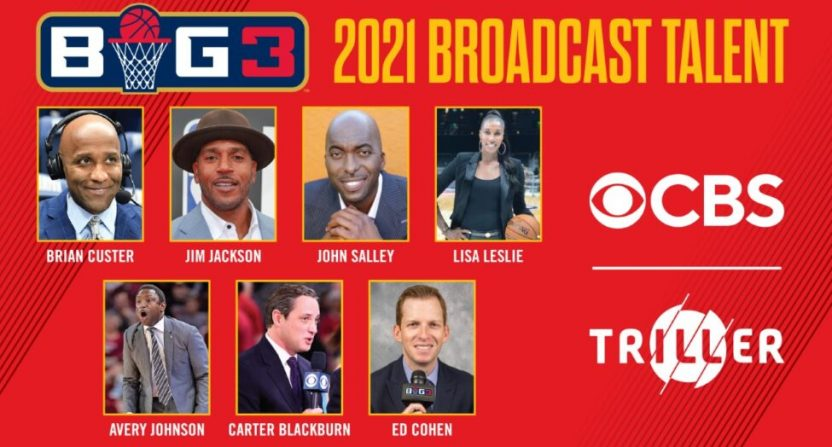 The BIG3 broadcast team for 2021.