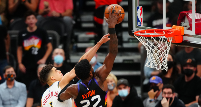 Deandre Ayton's dunk against the Nuggets.