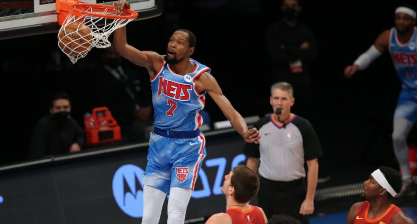 A Kevin Durant dunk from Jan. 12.