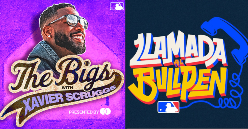 The Bigs, hosted by Xavier Scruggs, and Llamada al Bullpen are two new MLB podcasts.