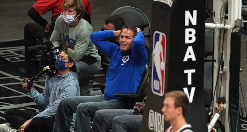 Mark Cuban during Game 7 against the Clippers.