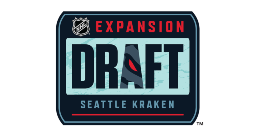 A graphic for the 2021 NHL expansion draft.
