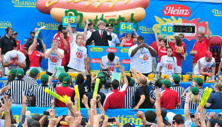 The Nathan's Hot Dog Eating Contest.