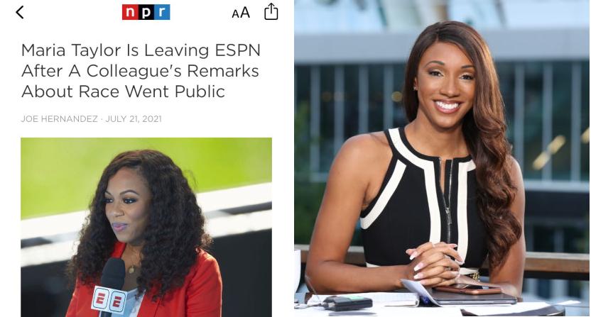 NPR's Kimberley A. Martin photo (at left) and a photo of Maria Taylor (at right).