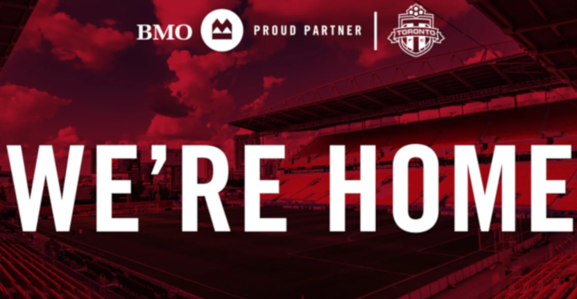 """Toronto FC's """"We're Home"""" graphic."""
