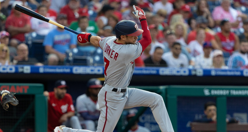 Washington Nationals' SS Trea Turner in a July 27, 2021 game.