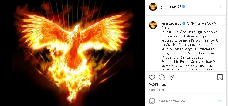 Yermin Mercedes' phoenix Instagram post.
