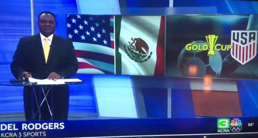"""Sacramento sports anchor swung and missed with """"USA wins the 2021 Soccer World Cup"""" for Gold Cup highlights"""
