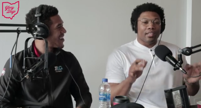 Evan Spencer (L) and Joshua Perry on a new Ohio State podcast.