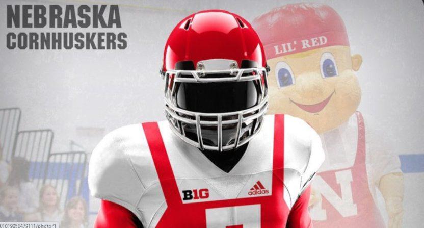 Fake Nebraska uniforms.