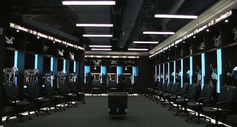 The Jacksonville Jaguars' locker room.