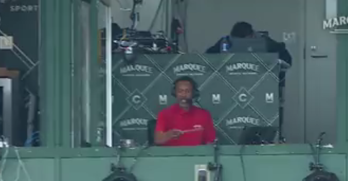 Doug Glanville on a Marquee Cubs broadcast.