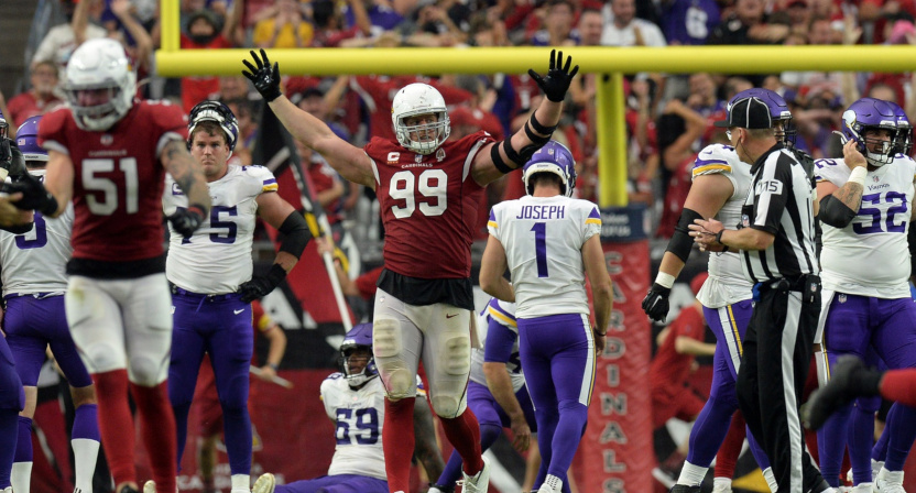 Greg Joseph after the Vikings' loss to the Cardinals.