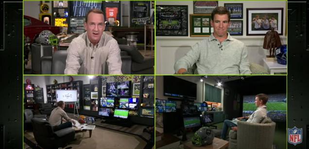 Monday Night Football with Peyton and Eli Manning.